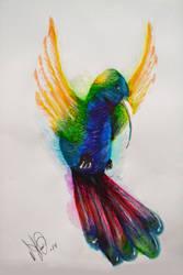 Colibri a base de plumones by MIHAUMARY