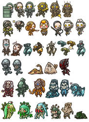 Warframe - Chibis for Competition by yuikami-da