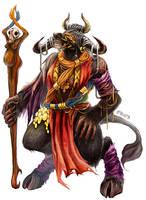 Wayfinder#14 - Minotaur Shaman by yuikami-da