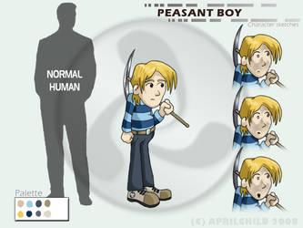 Peasant Boy - Design by aprilchild