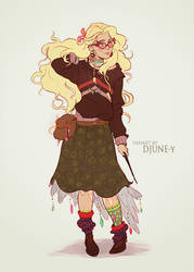 Luna Lovegood by DJune-y