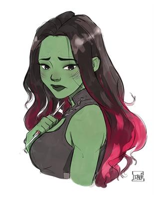 Gamora by DJune-y