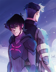 Keith and Shiro by DJune-y