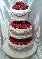 3 Tier Classic Wedding Cake by Verusca