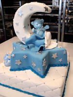 Teddy Christening Cake by Verusca