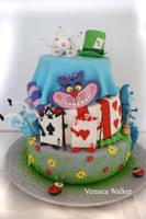 Alice in Wonderland Cake by Verusca