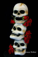 Stacked Skull Cake by Verusca