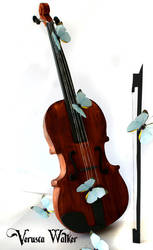 3D Violin Cake (Original Version) by Verusca