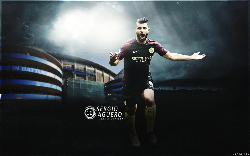 Sergio Aguero Wallpaper 201617 Manchester City By Ledioc10 On