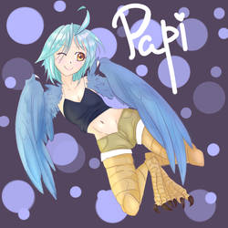 Papi the harpy from monster musume by 1girlfriend