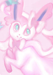 Sylveon wip by 1girlfriend