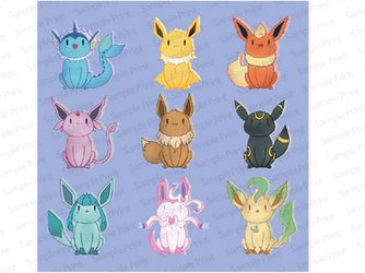 Eevees stickers by 1girlfriend