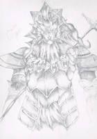 Dragonslayer Ornstein by DeadFenrir