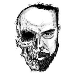 Half skull by mnetto