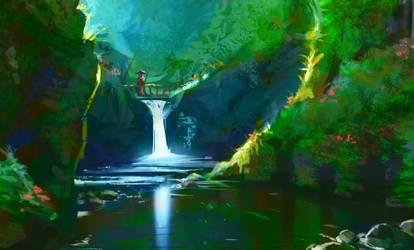 Waterfall by GANJAKYUN