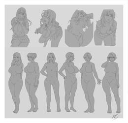 Character Sheet 1 - Pose Study by Firdausiyus