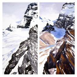 Grinnell Glacier 1920-2008 by dianeburko