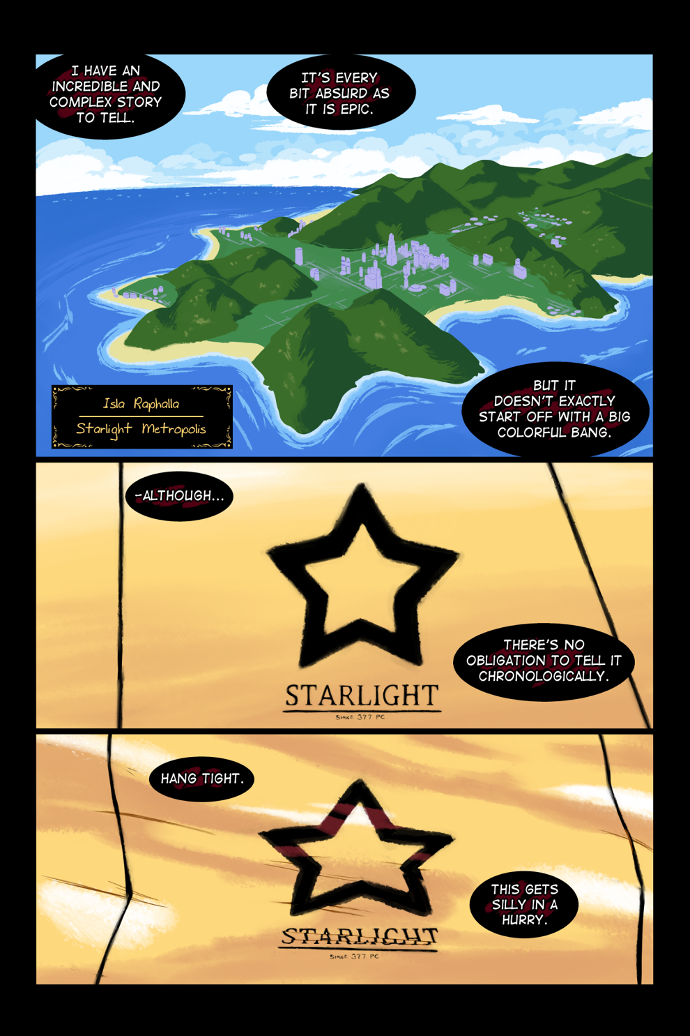 Chaos in the Tropics - Page 01 of Intro by Scribblehatch