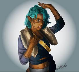 Lady Razirah Weadon, Half-Orc Warlock by digitalelf