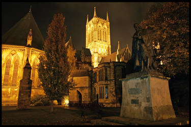 Tennyson and Lincoln Cathedral by steelriverimages