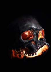 Fire skull by Stanivuk