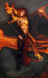 Fire Mage - Pride of Taern by marcosharps