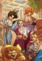 Ceasar - greeting card #1 by marcosharps