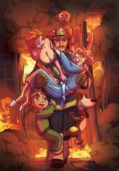 Fireman - greeting card #2 by marcosharps