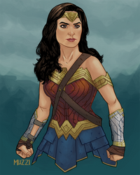 Wonder Woman! by muzzillustrations