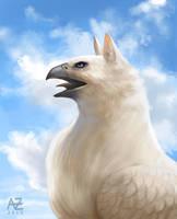 White Griffin by Azcazach