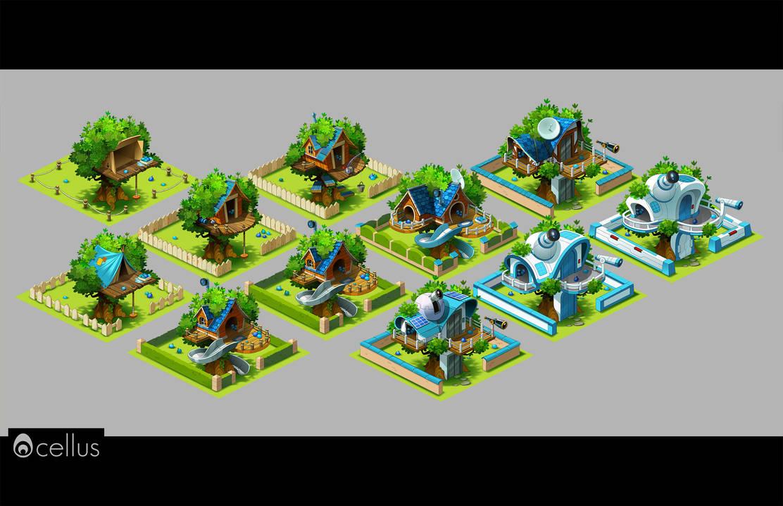 Treehouse evolution - Talking Tom Camp by Inkola