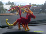 Fiery Pipecleaner Dragon by IsellaHowler