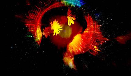 Cosmic Flower by AnonTheDarkOne