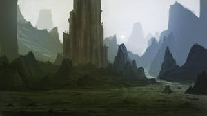 Landscape Mountains And Rocks June13th by YogFingers