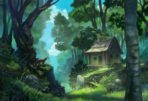 Shack in the Woods by YogFingers