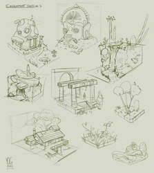 Environment Sketches by YogFingers