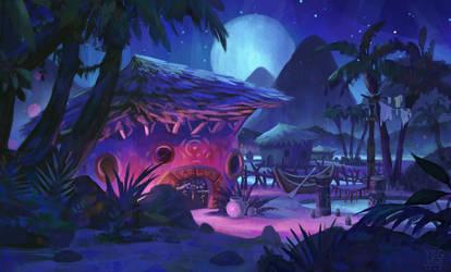 Night Hut by YogFingers