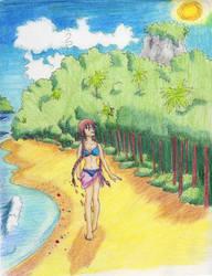 Exploring the beach by VeenaViera