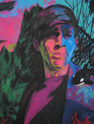 Mira Eso - an Oil Pastel Self Portrait by NorcaBot