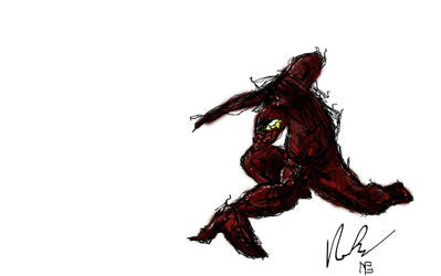Carnage Digital Sketch by NorcaBot