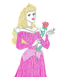Sleeping Beauty -- Pink Aurora by ErikAngelofMusic