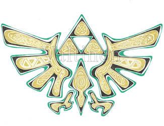 Zelda Triforce by ErikAngelofMusic