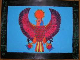 Egyptian Falcon Batik by sapphirelotus