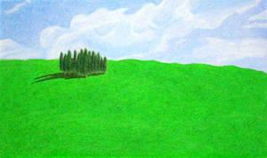 Green Field by burthefly