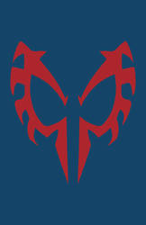 Spider-Man 2099 Mask Minimalist Design by burthefly