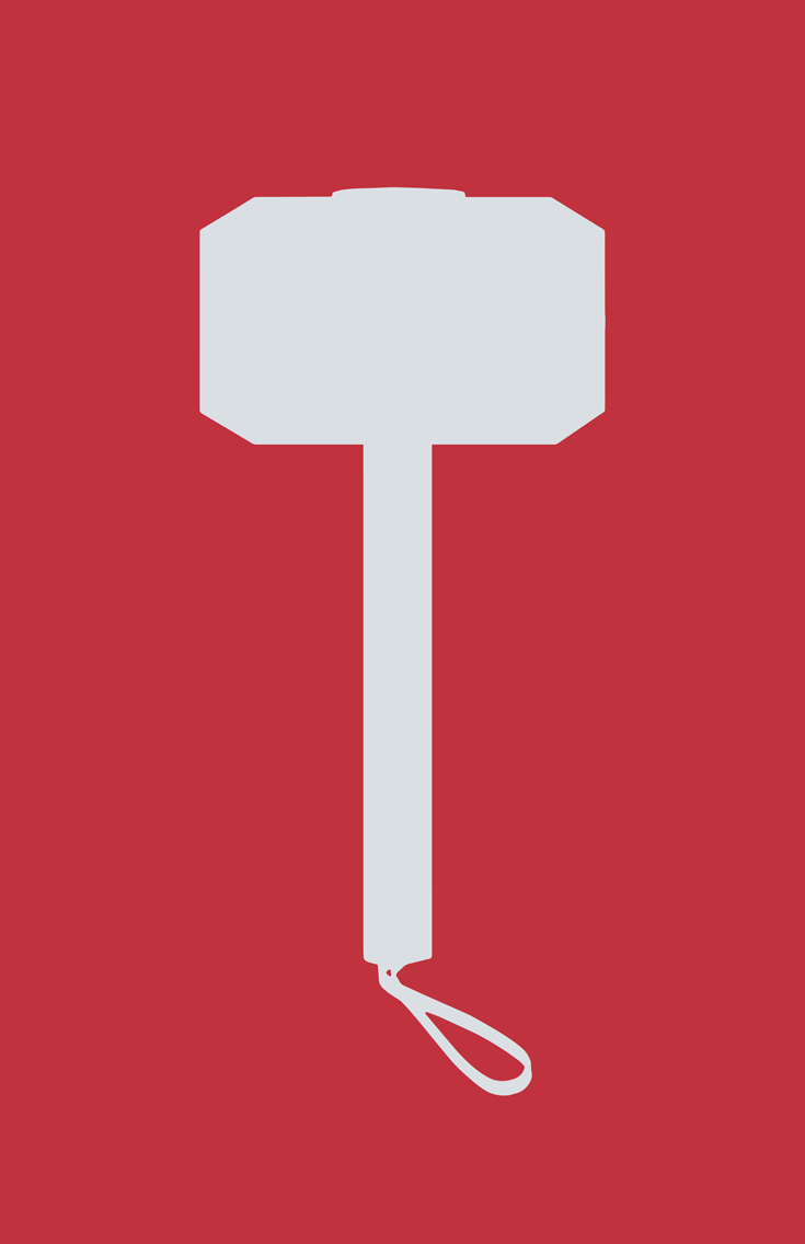 Thor Weapon Minimalist Design by burthefly