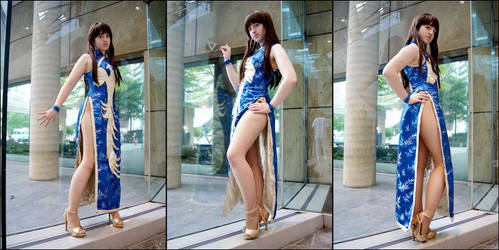 Blue Qipao by PaXingCai