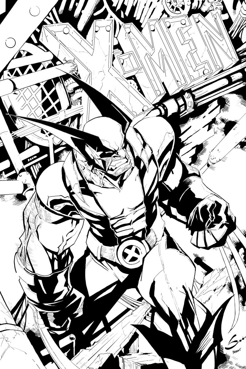 X-MEN cover-inks by NeerajMenon
