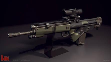 Hk G3 BK concept rifle by STUNNA-K