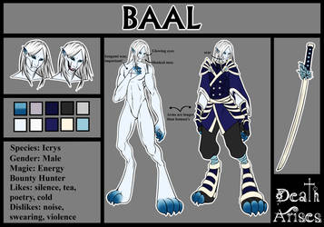 Baal reference sheet by Medral